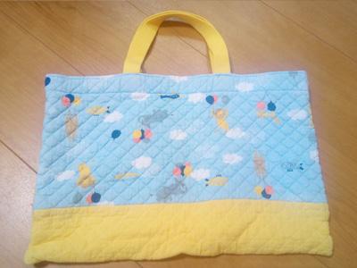 保育園の手作りバッグは小学生でも使います!