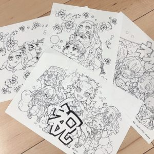 【鬼滅の刃】煉獄杏寿郎や劇場版入場者特典のぬりえも!公式サイトからダウンロードできるよ!
