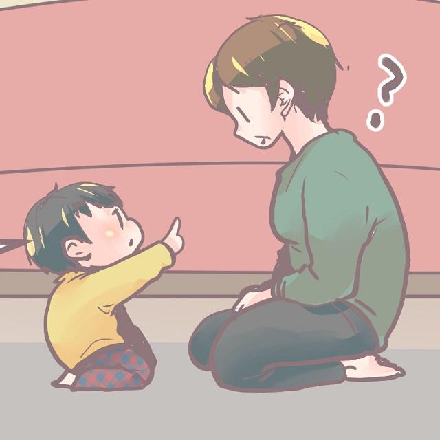 いやそれシワや!!「おばあちゃまもケガしてる」と息子が指さしたもの|かなたの育児ダイアリー
