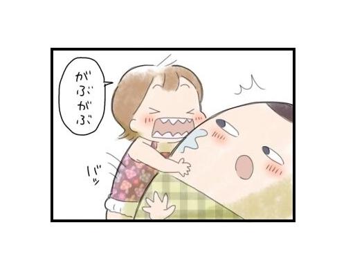 天使な2歳娘との幸せなひとときに冷静につっこむ夫|まりおの育児漫画