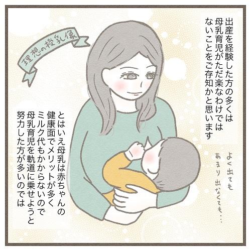 【1】生後4ヶ月、母乳育児やめました。~母乳育児の理想と現実~|みゅこの育児絵日記
