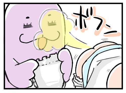 オナラ砲発射!深夜のオムツ交換で健康チェック?|左近寺しゅうりの育児漫画